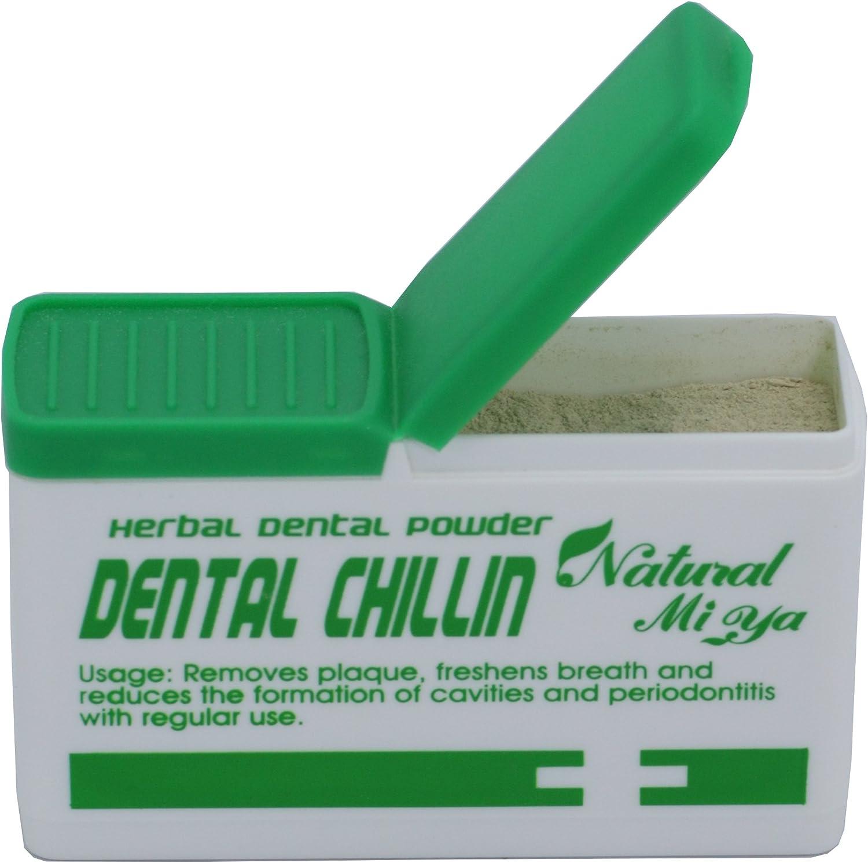 Natural Mi Ya Herbal Dental Powder for Oral Care to Reduce Betel Nut, Tobacco, Tea, Food Coloring, Fermentation Residues, Plaque, Tartar, Bad Breath; Reduce Dental Calculus & Periodontal; Fresh Breath
