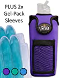 Organized Empire Water Bottle Holder - For Both Hot and Cold Use, Our Insulated Neoprene Bottle Sleeve Has Adjustable Shoulder Strap Sling for Carrying - Inc 2 x Freezable & Microwave gel-pack sleeves
