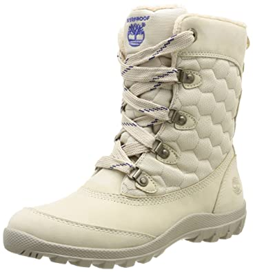 Timberland Ek Mount Hope Leather And Fabric Waterproof, Womens Boots, Beige  (Beige ( 347162e9c02f