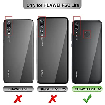 Huawei P20 lite Protector de Pantalla, KuGi Cristal Templado Vidrio Templado [9H Dureza] [Alta Definicion] Protector de pantalla para Huawei P20 ...