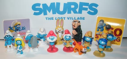 Amazon Com Smurfs And The Lost Village Movie Deluxe Party Favors