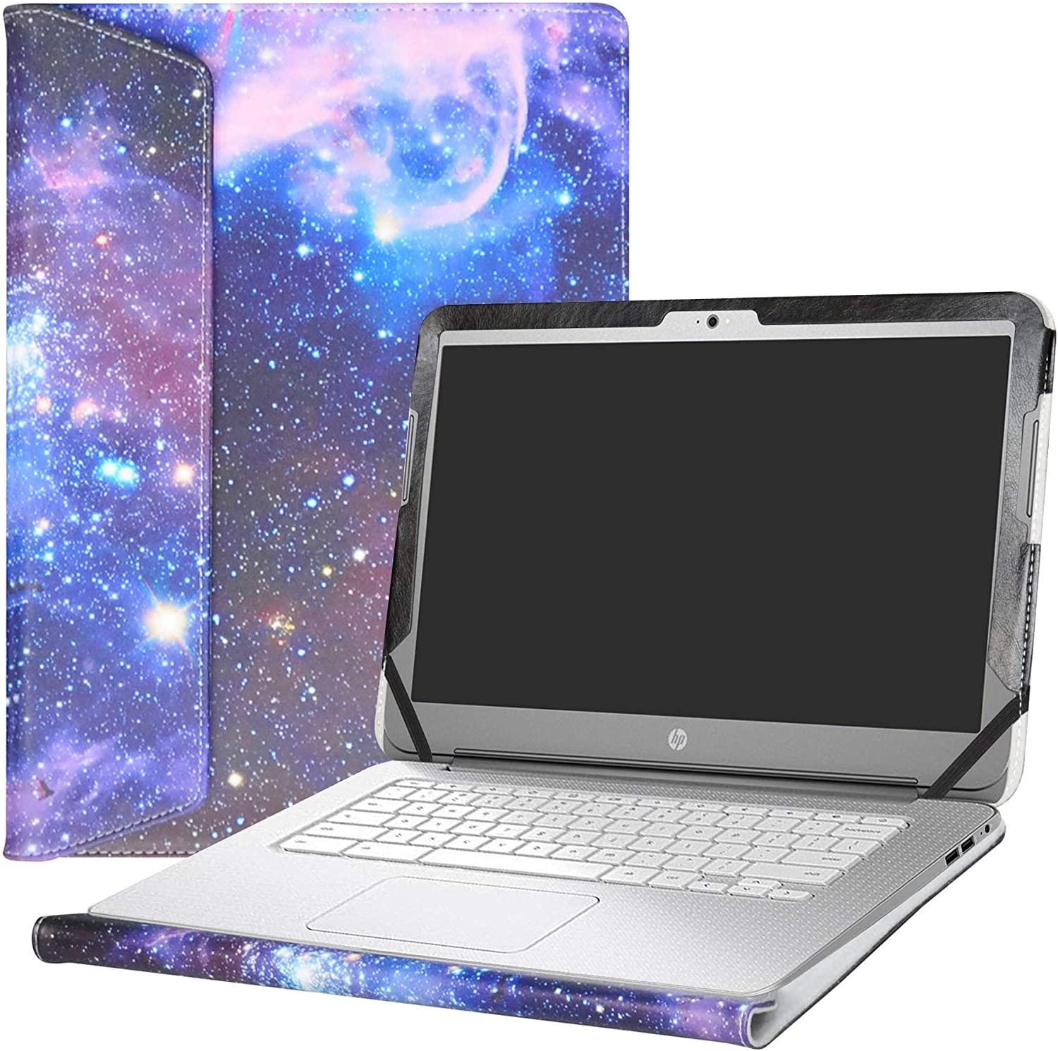 "Alapmk Protective Case Cover for 14"" HP Chromebook 14 14-akXXX 14-XXXX 14-qXXX & HP Chromebook 14 G1 G2 G3 G4 Series Laptop(Warning:Not fit HP Chromebook 14 G5/14-caXXX Series),Galaxy"