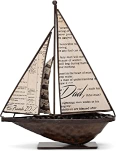 Dicksons Dad Proverbs 20:7 Metal 10.5 inch Table Top Figurine Decoration
