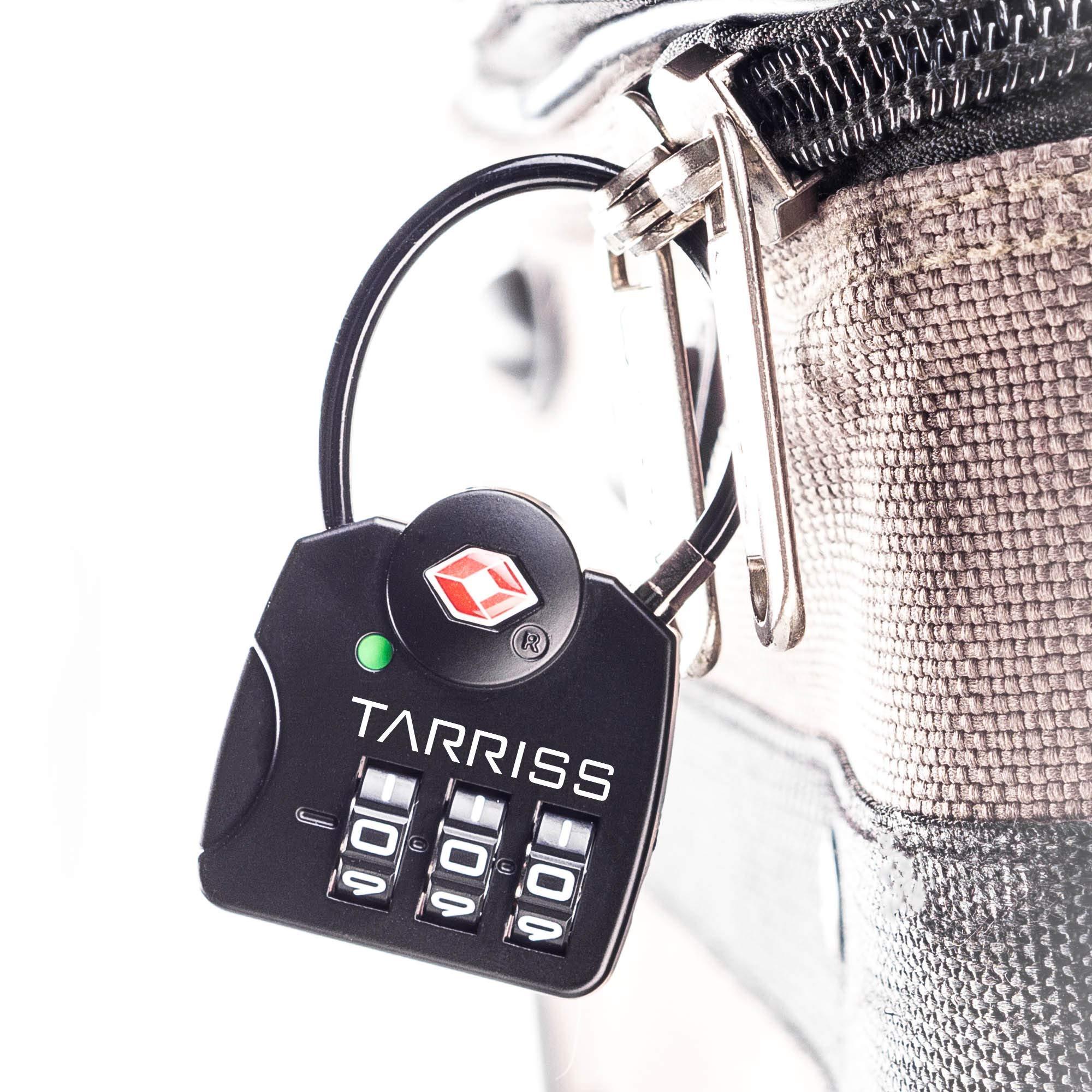 Tarriss TSA Lock with SearchAlert (2 Pack) (Midnight Black) by Tarriss (Image #6)