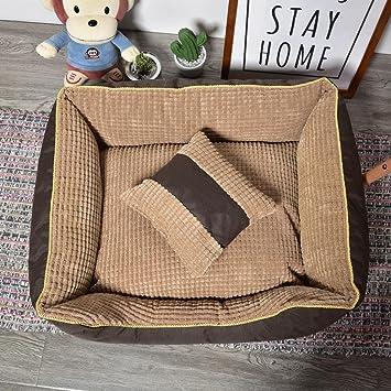 BiuTeFang Cómodo Casa para Mascotas, Camada de Oxford paño maíz Perro Nido Pet Alfombra de camada de Perro Cama Gato: Amazon.es: Productos para mascotas