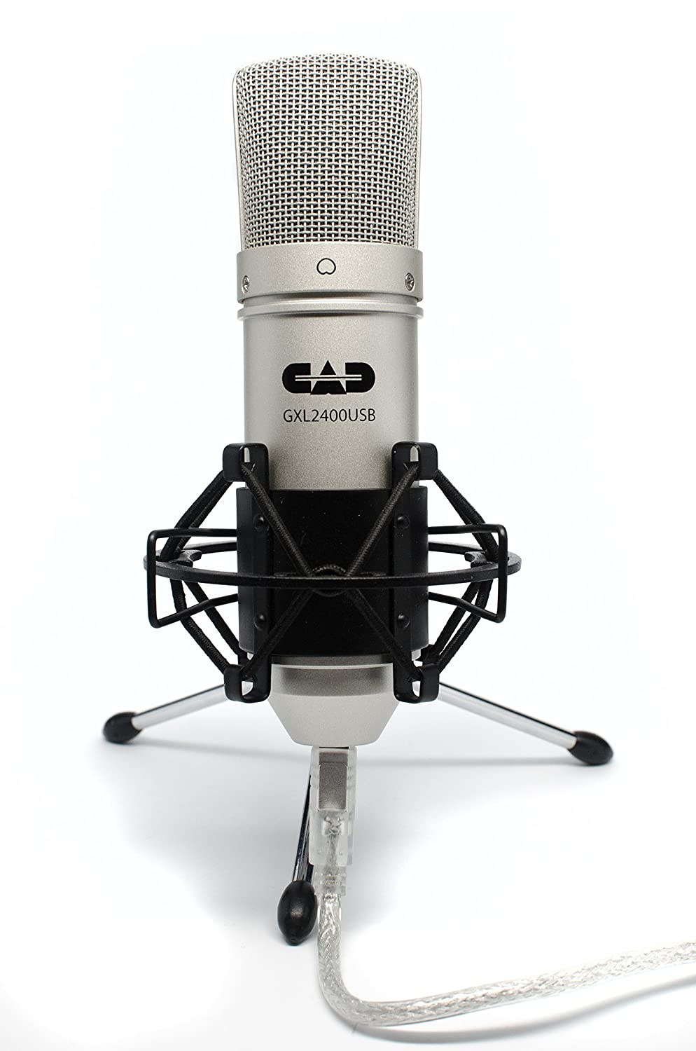 CAD GXL2400 USB Microphone for Recording Podcast and Gaming with Shock Mount MUS268580