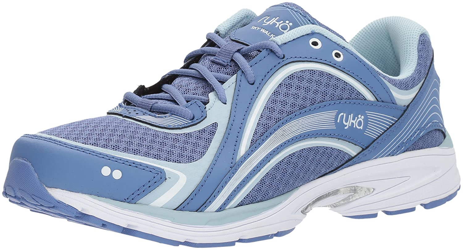 Ryka Women's Sky Walking Shoe B0757CW8JB 7.5 W US|Colony Blue/Soft Blue/Chrome Silver