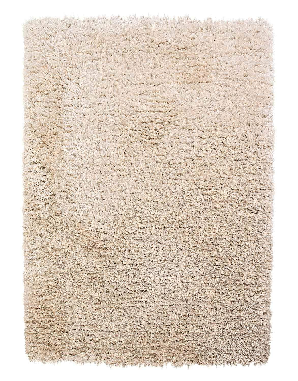Wohnzimmerteppich Hochflorteppich Webteppich FLOKI 40   160x230 cm   Beige