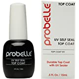 Probelle UV Self Seal Top Coat Longer Lasting Manicure, .5 Fluid Ounce