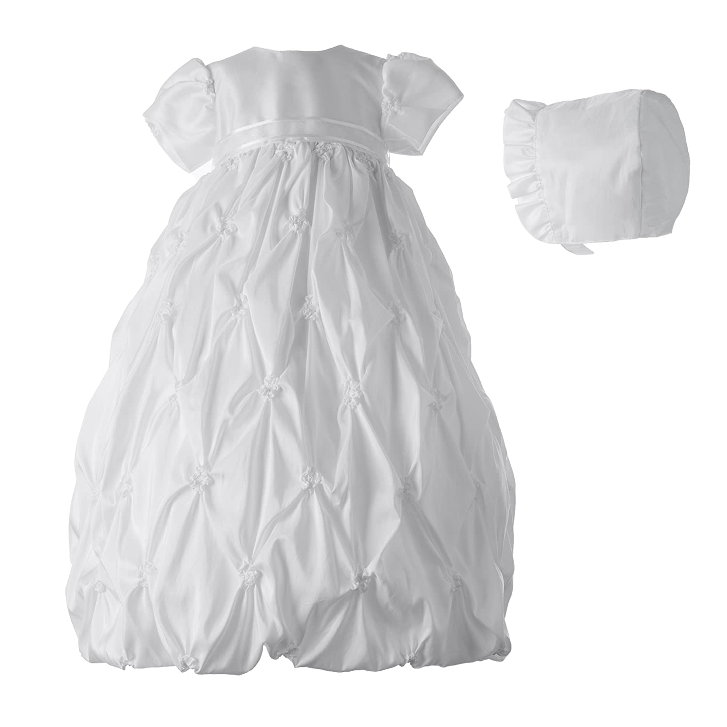 Lauren Madison baby girl Christening Baptism Newborn Taffeta Gown With Embroidery Haddad Brothers Clothing 1943