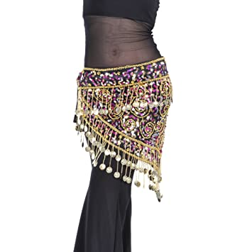 405a7aa71 BellyLady Belly Dance Gold Coins Costume Hip Scarf, Tribal Egyptian Coin  Belt, Scarves - Amazon Canada