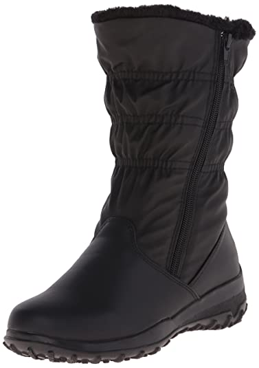 Women Tundra Boots Petra Wide Black innovative design