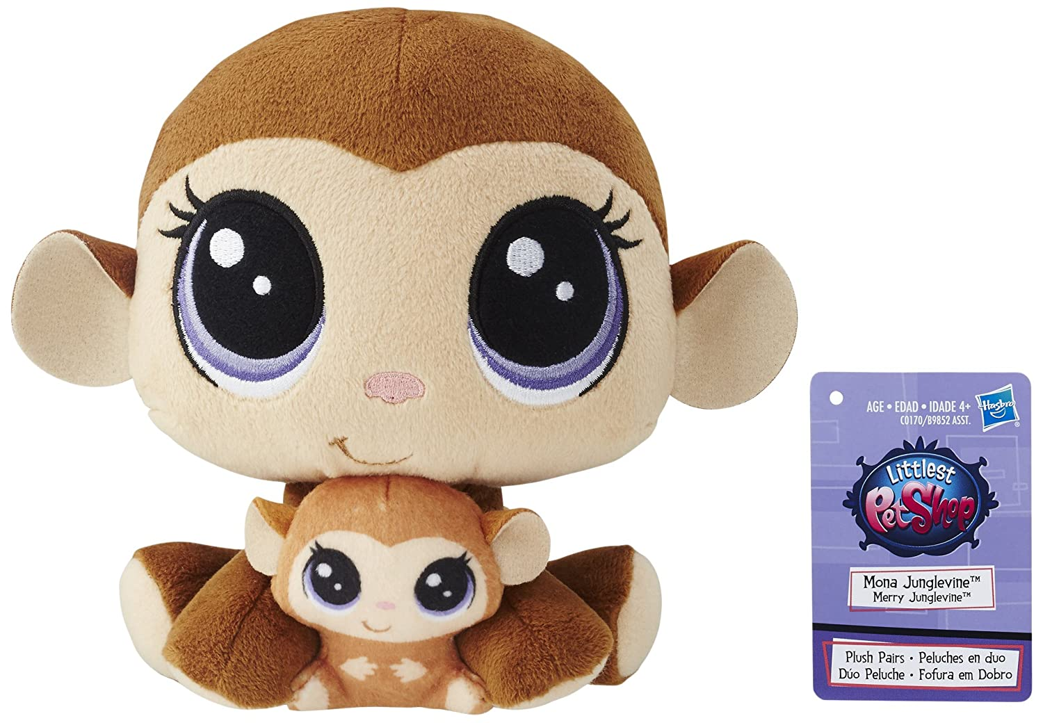 Amazon.com: Littlest Pet Shop Mona Junglevine and Merry Junglevine Plush Pairs: Toys & Games