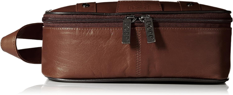 Dopp Mens Veneto Top Zip Travel Kit-Leather
