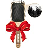 Flat Paddle Brush with Nylon Bristles - Detangle, Comb the Most Knotty Hair into Frizz-Free Smooth Hair - Fits All Hair Types Best for Thick, Long, Straight or Curly Hair