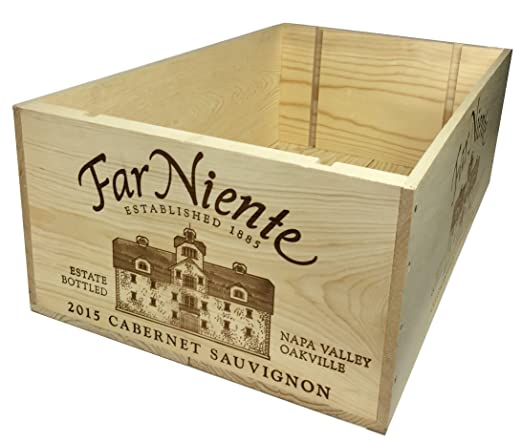 Amazon.com: Far Niente – Caja de 12 botellas de madera para ...