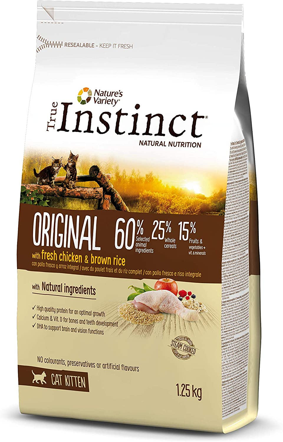 True Instinct Original - Nature's Variety - Pienso para Gatos Kitten con pollo - 1,25kg