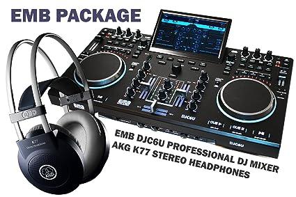 EMB DJC6U Professional Controller DJ MIXER 2 Jog Wheels Scratching