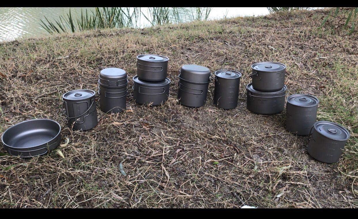 Jolmo Lander marmite de Camping avec poign/ée Pot en Titane Pur Casserole de randonn/ée ultral/éger 900ml//30oz