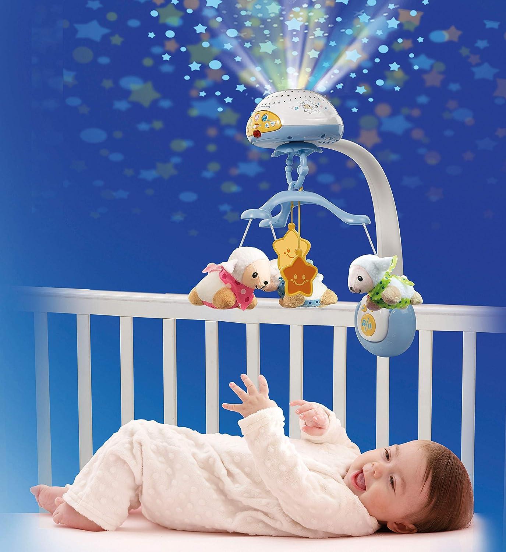 VTech - Móvil proyector cuenta ovejitas dulces sueños para el bebé, juguete de cuna con mando a distancia (3480-503322): Amazon.es: Bebé
