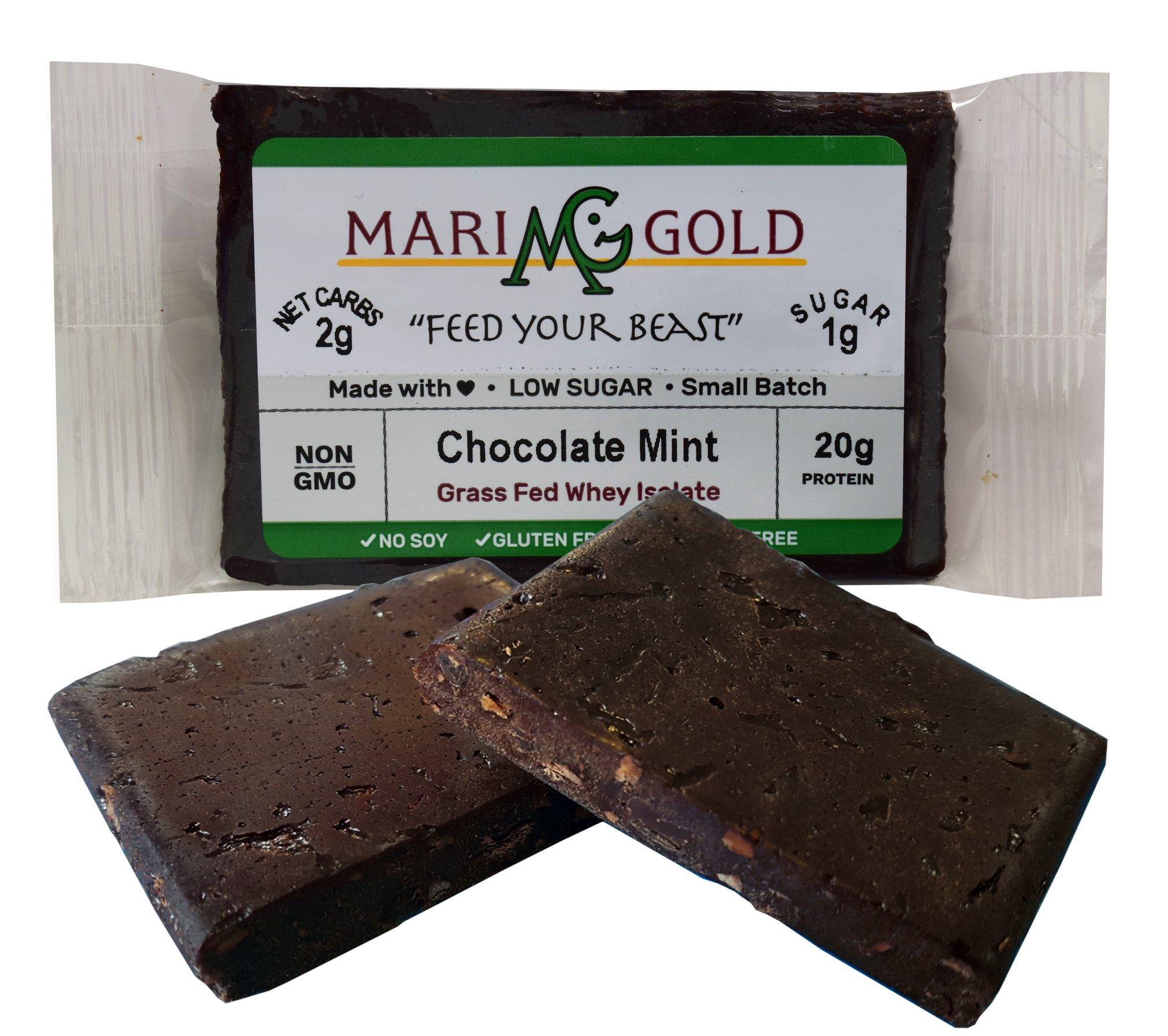 Keto (2-3 NET CARB) Protein Bar by MariGold - Amazing Taste Ketogenic Snacks - Organic Fats, 1 g Sugar, 21 g Protein GRASS FED Whey - Non GMO. Made Fresh, Ships Fresh. (12 bars) by MariGold Bars (Image #4)