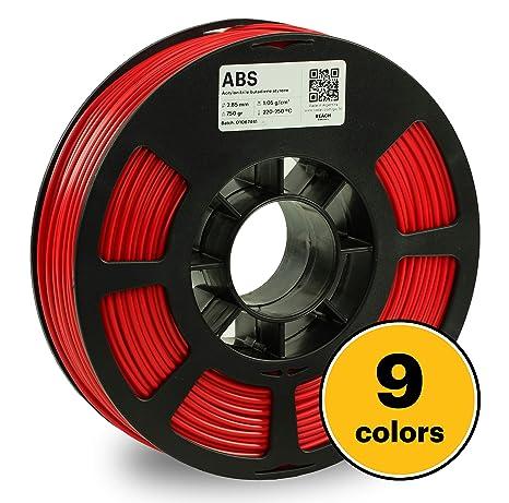 Kodak - Filamento de impresión 3D ABS, 3,00 mm, 2426,98 cc, Rojo ...