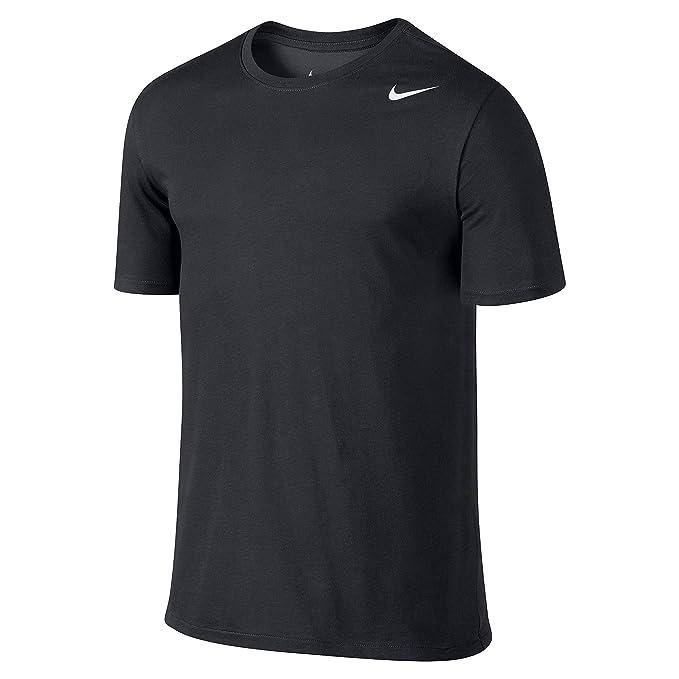 buy online a72d3 1dd82 Nike Herren Dri-Fit Cotton Kurzarm 2.0 T-Shirt, Schwarz (Schwarz  (Schwarz-Weiss)), M