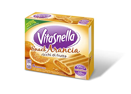 15 opinioni per Vitasnella Snack Arancia- 12 pezzi da 162 g [1944 g]