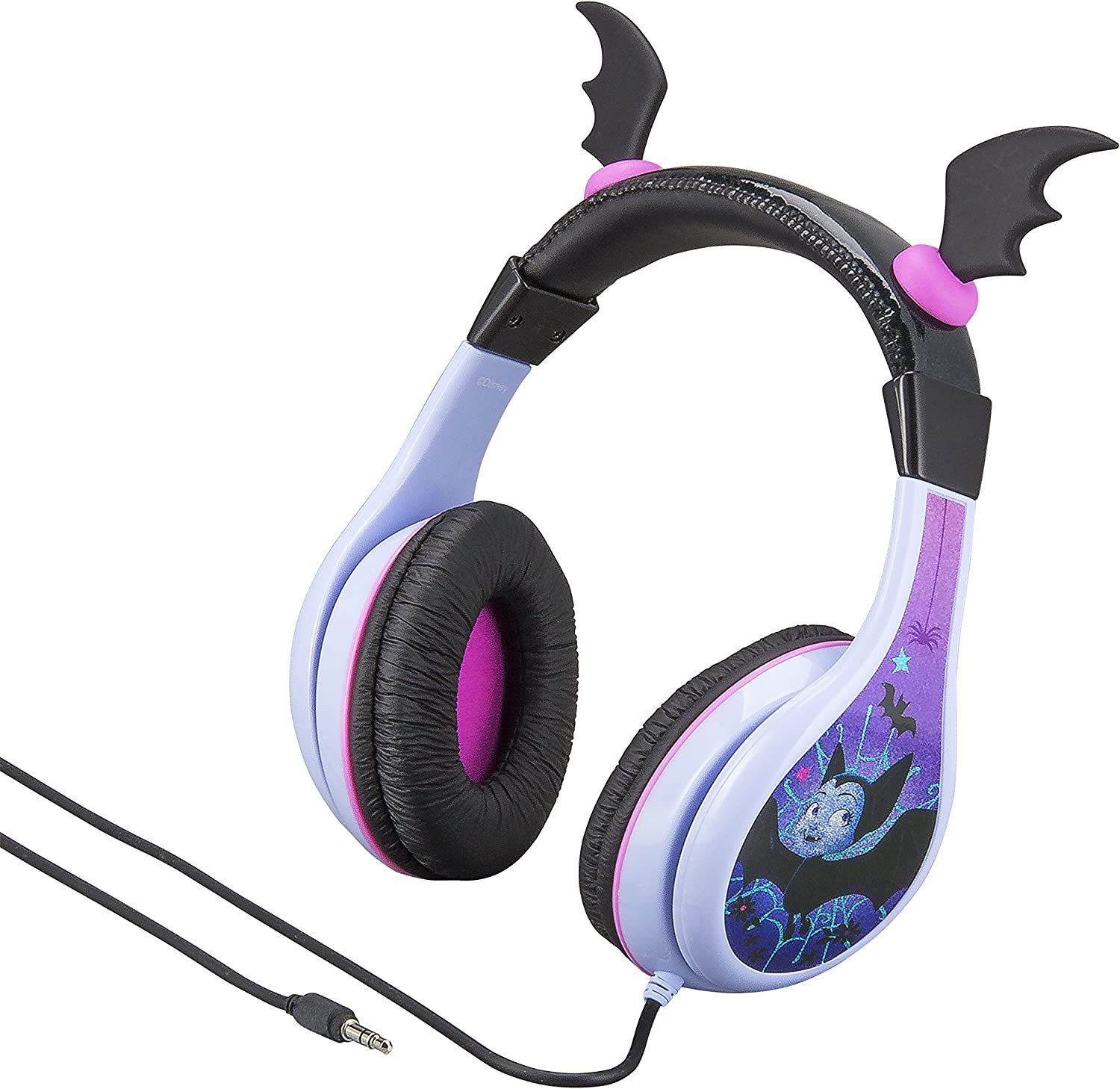 Vampirina Headphones for Kids with Built in Volume Limiting Feature for Kid Friendly Safe Listening for Halloween