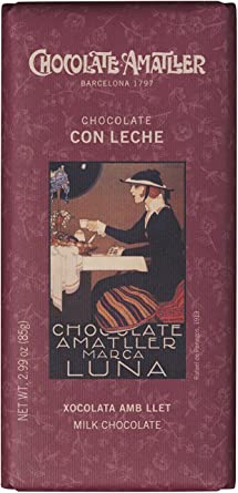 Chocolate Amatller - Tableta de chocolate (Leche) - 25 tabletas de ...