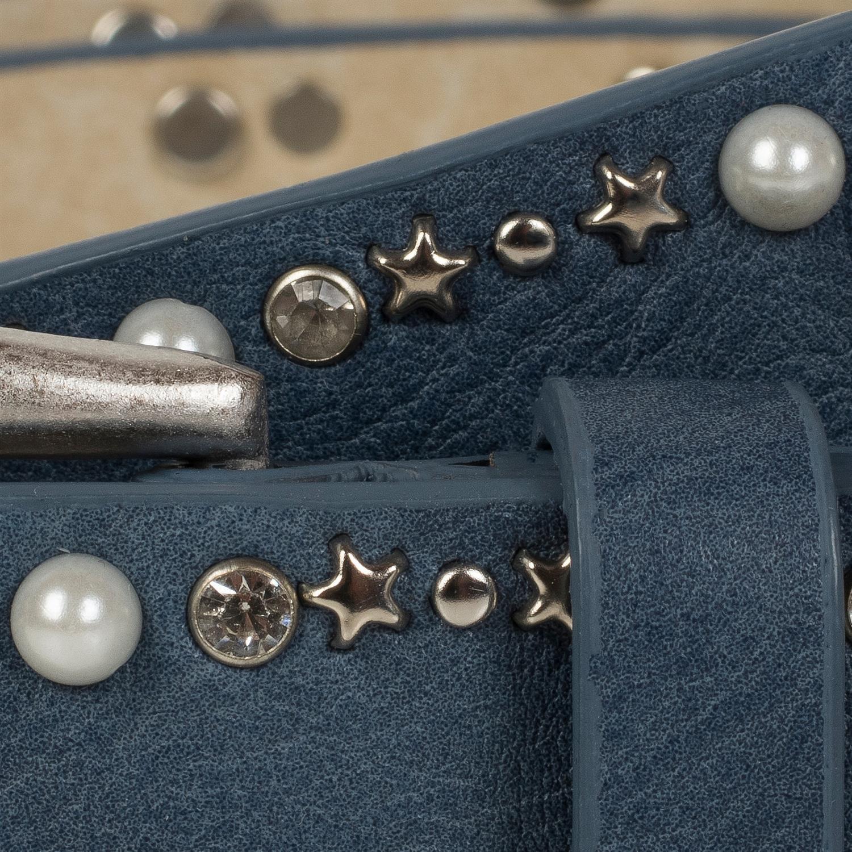 785d06048c6a20 ... styleBREAKER Gürtel mit Perlen, Strass und Stern Nieten, Nietengürtel,  kürzbar, Damen 03010087 ...