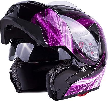 Typhoon G339 Women S Modular Full Face Motorcycle Helmet Flip Up Dual Visor Dot Pink Medium