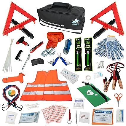 Amazon Com 112 Piece Roadside Assistance Car Emergency Kit