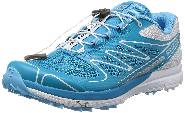 Salomon Women's Sense Pro Trail Running Shoes B00D3PBP80 9 B(M) US|Boss Blue / White / Silver