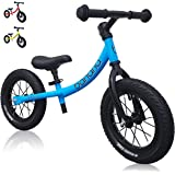 """Banana GT Balance Bike - 12"""" Alloy Wheels Air Tires for Girls and Boys 2, 3, 4, 5 Year Olds"""