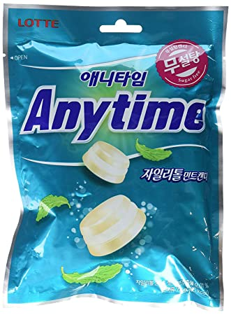 Bag of Lotte Anytime Milk Mint (애니타임 밀크민트)