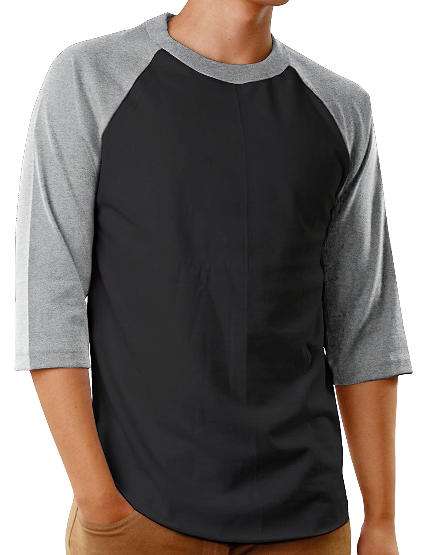 Amazon.com  Hat and Beyond Mens Baseball Raglan T Shirts 3 4 Sleeves Casual  Cotton S-3xl Jersey 1KSA0001  Clothing 75e7a1506e56
