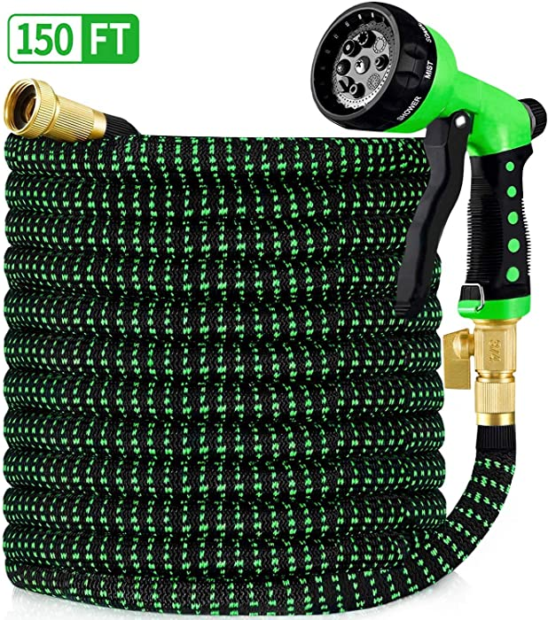 HBlife 150ft Garden Hose, All New 2020 Expandable Water Hose with 3/4