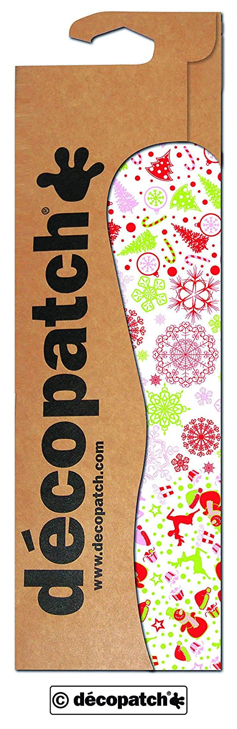 décopatch Christmas Trees and Snowmen Paper, 30 x 40 cm, Pack of 3 Sheets C587O