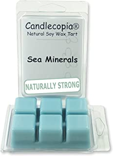 product image for Candlecopia Sea Minerals Strongly Scented Hand Poured Vegan Wax Melts, 12 Scented Wax Cubes, 6.4 Ounces in 2 x 6-Packs