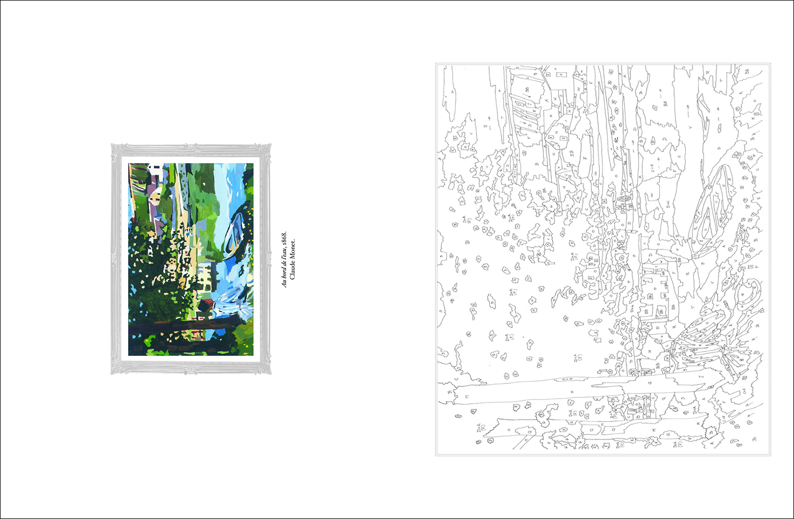 Amazon Cahier de coloriages Les Impressionnistes De Monet  Van Gogh Collectif Livres