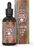 Bay Rum Beard Oil Conditioner- All Natural Bay Rum Scent Organic Argan & Jojoba Oils - Promotes.