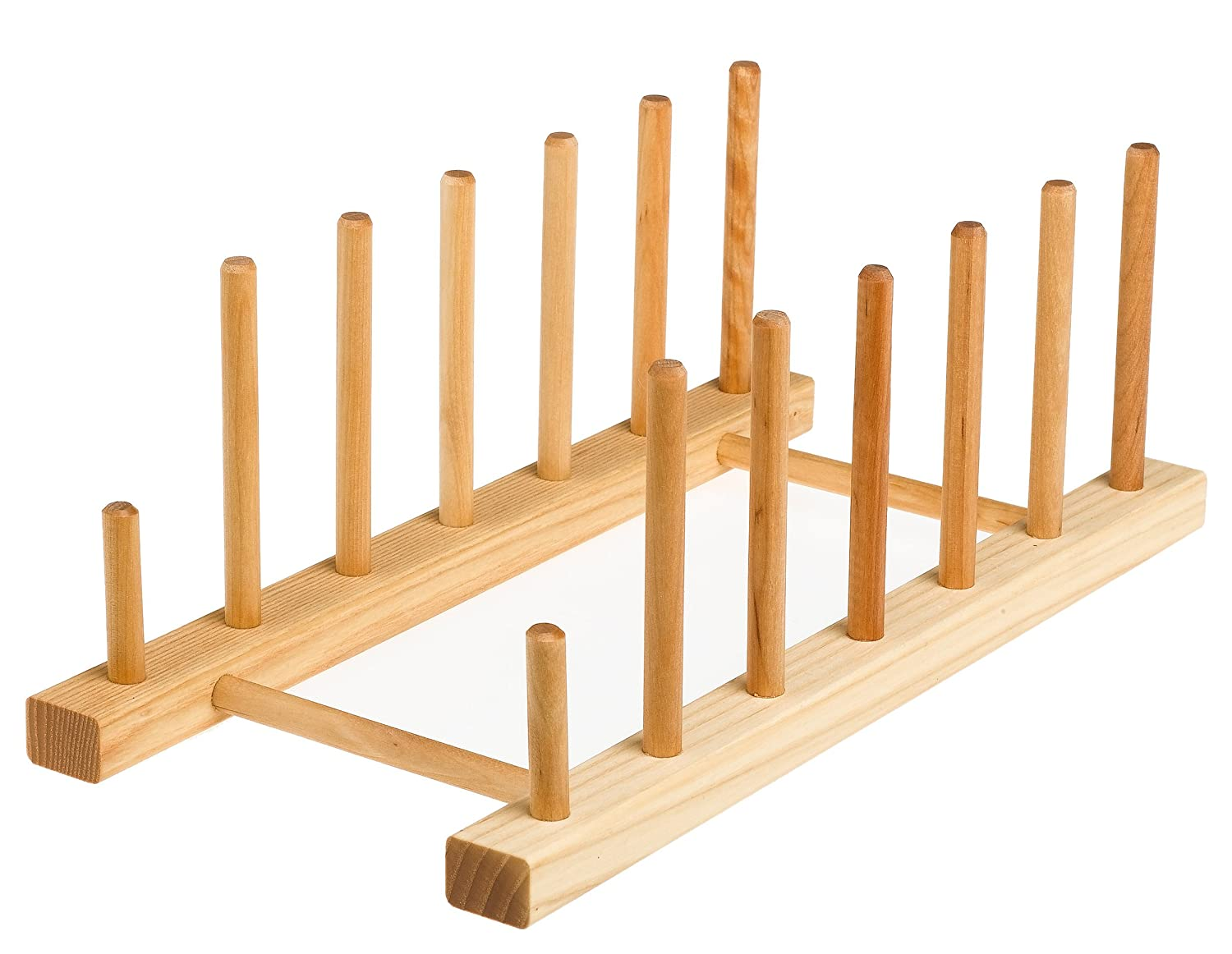 Amazon.com J.K. Adams 13-Inch-by-6-Inch Maple Wood Flat Plate Drying Rack 6-Plate Capacity Cabinet Organizers Kitchen u0026 Dining  sc 1 st  Amazon.com & Amazon.com: J.K. Adams 13-Inch-by-6-Inch Maple Wood Flat Plate ...