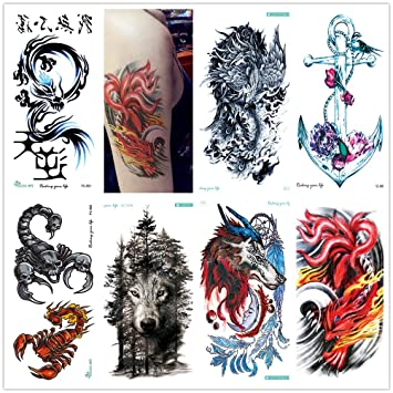 2a0b062d7 ZUZAN New Home Innovations, Fashion 3D Designs Personality Trend Multiple  Style Big Temporary Tattoos