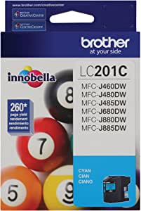 Brother LC201C Standard Yield Cyan Ink Cartridge