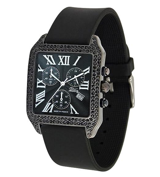Think NegraCorrea Moog Different Para Mujer Reloj Con Paris Esfera lF1JTKc