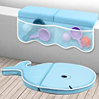 efubaby Bath Kneeler with Elbow Rest Pad Set 1.75 inch Thick Kneeling Pad Elbow Support with Toy Organizer Baby Bath Mat…