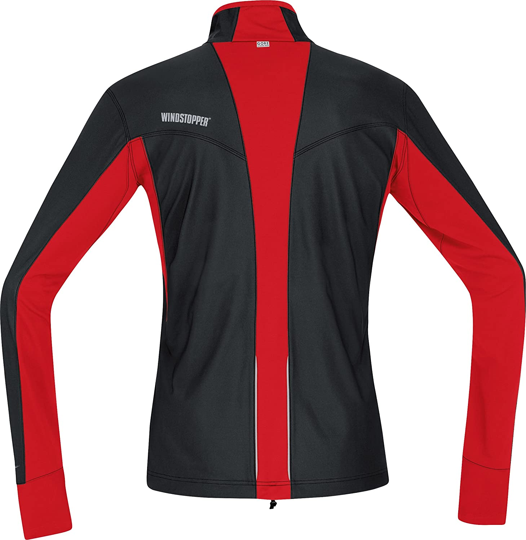 GORE RUNNING WEAR Mens Air Windstopper Jersey Black//Red Large Gore Bike Wear KWAIRN