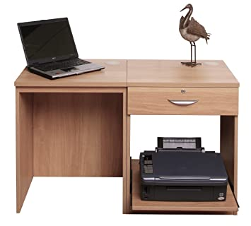 Home Office Furniture UK Small Laptop Printer Table Childs Kids Computer  Desk Set, Wood,