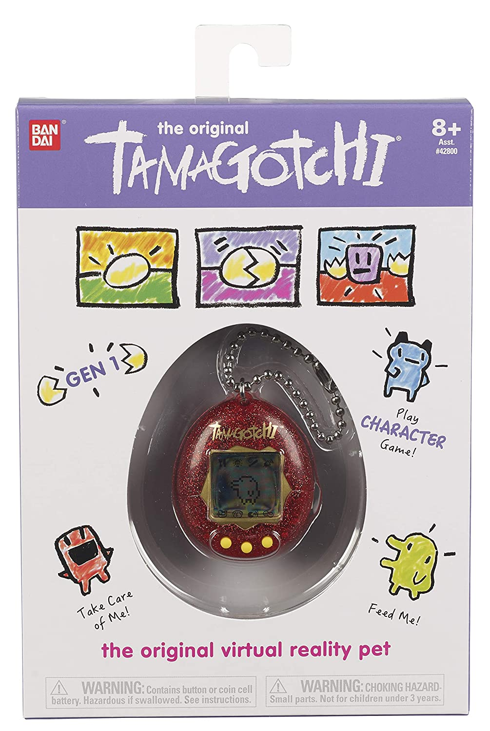 Red Glitter Tamagotchi Electronic Game